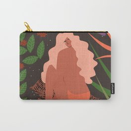 Girl in Botanic Garden Carry-All Pouch