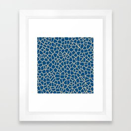 staklo (dark blue with coffee) Framed Art Print