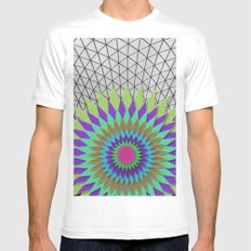 MEETING POINT White Mens Fitted Tee MEDIUM