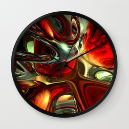 Sanguine Abstract Wall Clock