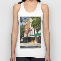 cafe Tank Tops featuring City Cafe by Yellow Tie