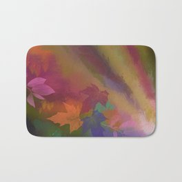 Autumn splendour, abstract painting with leaves Bath Mat