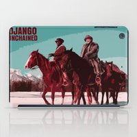 django iPad Cases featuring Django Unchained Movie Poster  by FunnyFaceArt
