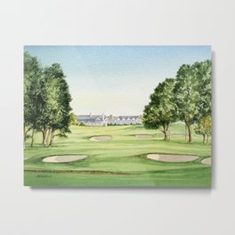 Southern Hills Golf Course 18th Hole Metal Print