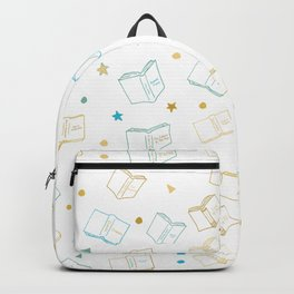 Classic Book Doodles Blue & Yellow Backpack
