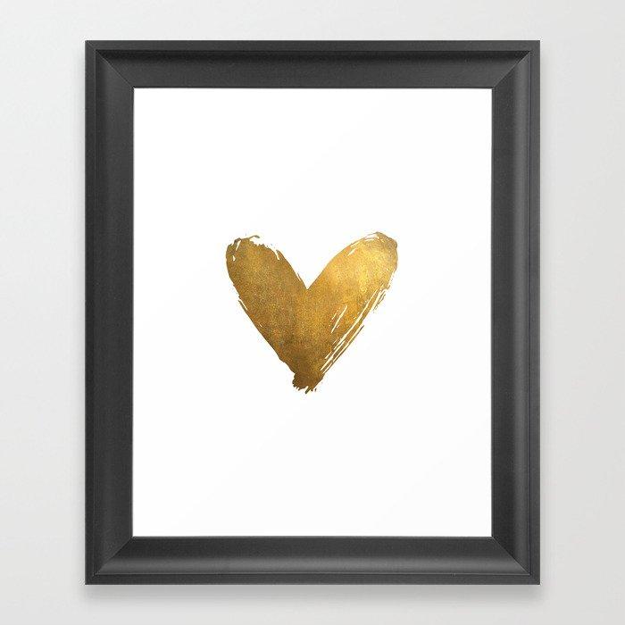 Heart of Gold Gerahmter Kunstdruck