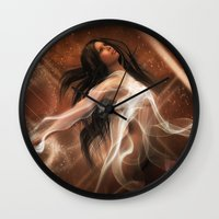 women Wall Clocks featuring Women by Susann Mielke