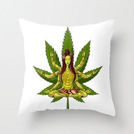 Shiva Weed Yoga Throw Pillow