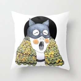 First time masquerade II [Sunflower edition] Throw Pillow
