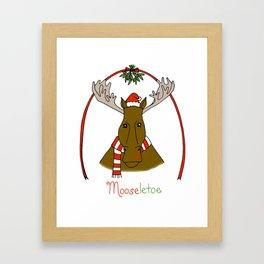 Mistletoe Moose Framed Art Print