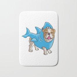 Bulldog Shark Bath Mat