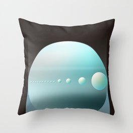 Neptune Space art Throw Pillow
