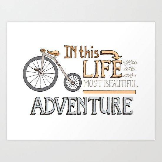 Bicycle Adventure, Romance Art Print