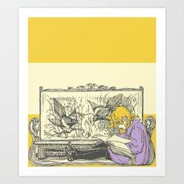 Leave Me Alone, I'm Reading (and I'm Blonde) Art Print