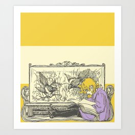Leave Me Alone, I'm Reading (and I'm Blonde) Art Print