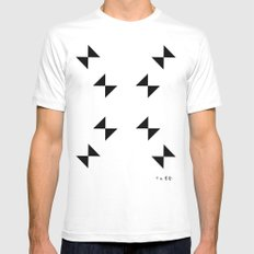 :::CRIME_WEATHER::: MEDIUM White Mens Fitted Tee