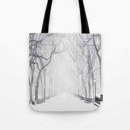 Snowy Park Tote Bag