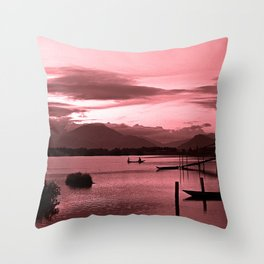 Red Asian Impression Throw Pillow
