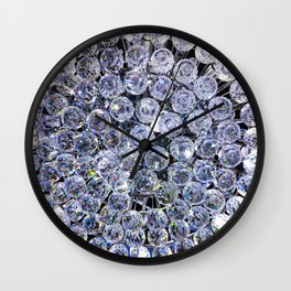 Pale Blue Crystals Wall Clock