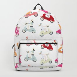 Girls on Scooter Pattern Backpack