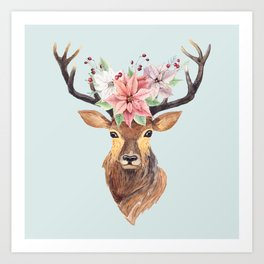 Winter Deer 2 Art Print