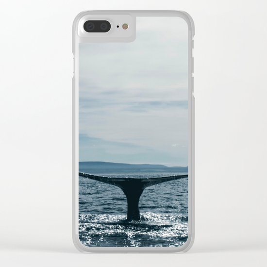 Whale in the sea Clear iPhone Case