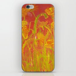 Red Hot Poppies iPhone Skin