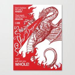 I am the Dragon Canvas Print