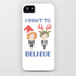I Want To Believe: Christmas Edition iPhone Case