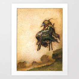 The Crow Witch Art Print