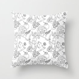 Ocarina Patterns Throw Pillow