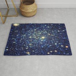 galaxY Stars : Midnight Blue & Gold Rug