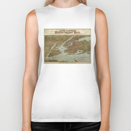 Vintage Pictorial Map of The NYC Area (1912) Biker Tank