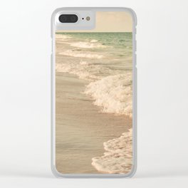 Tropical Beach Love Clear iPhone Case