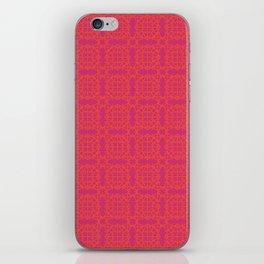 Diamond Bugs Pattern Flame - Pink Yarrow iPhone Skin