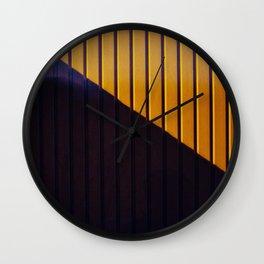 Dr. Purple & Mr. Orange Wall Clock
