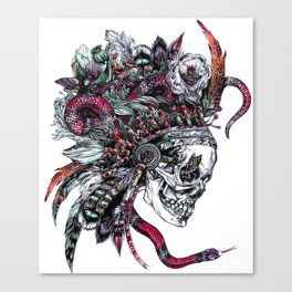 Death God Itzamna Canvas Print
