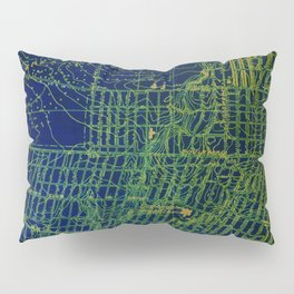 Holywood old map year 1924, usa old maps, american maps for home decoration Pillow Sham