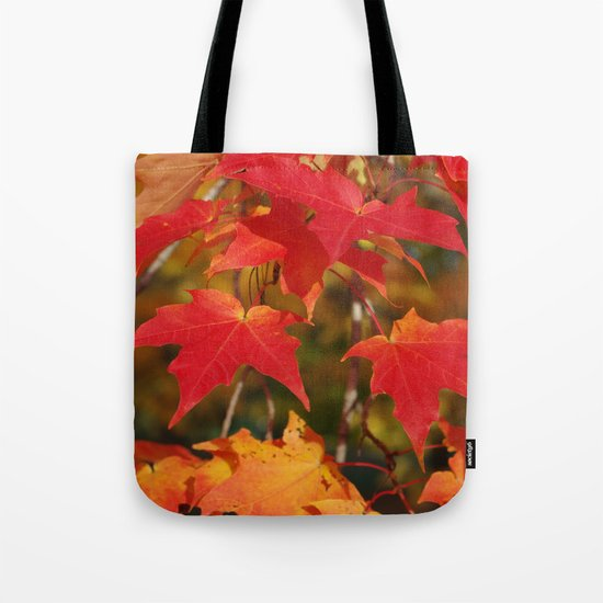 Fiery Autumn Maple Leaves 4966 Tote Bag