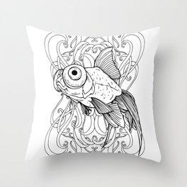 Rising Goldfish Throw Pillow