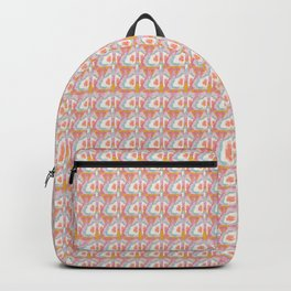 Pretty watercolor geometric plaid in turquoise and orange Backpack