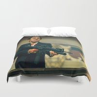 scarface Duvet Covers featuring SCARFACE by I Love Decor