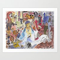 Sailor and stuff Art Print