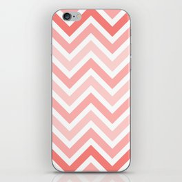 Geometrical mauve coral white modern chevron pattern iPhone Skin