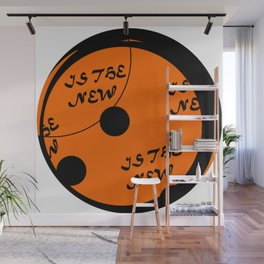 Round is the new black Wall Mural