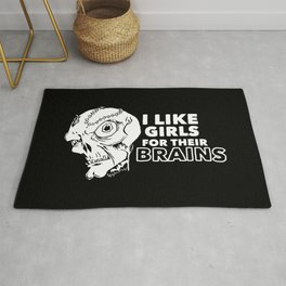 I Like Girls for Their Brains Rug