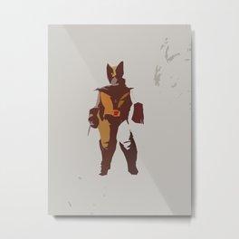 Logan Brown & Tan Metal Print