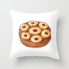 Desserts: Upside-Down Cake Throw Pillow
