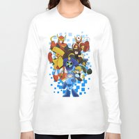 megaman Long Sleeve T-shirts featuring Megaman 2 by Patrick Towers