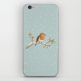 Robin on Branch iPhone Skin